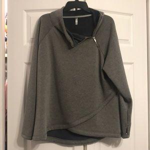 Sweaters - Fleece gray pullover sweatshirt
